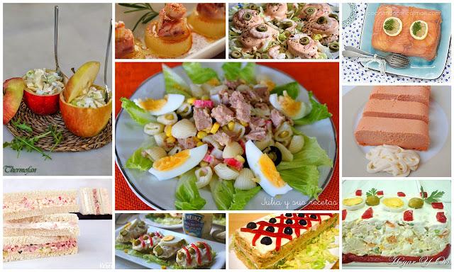 Deliciosos platos fríos para una cena fresquita. Julia y sus recetas