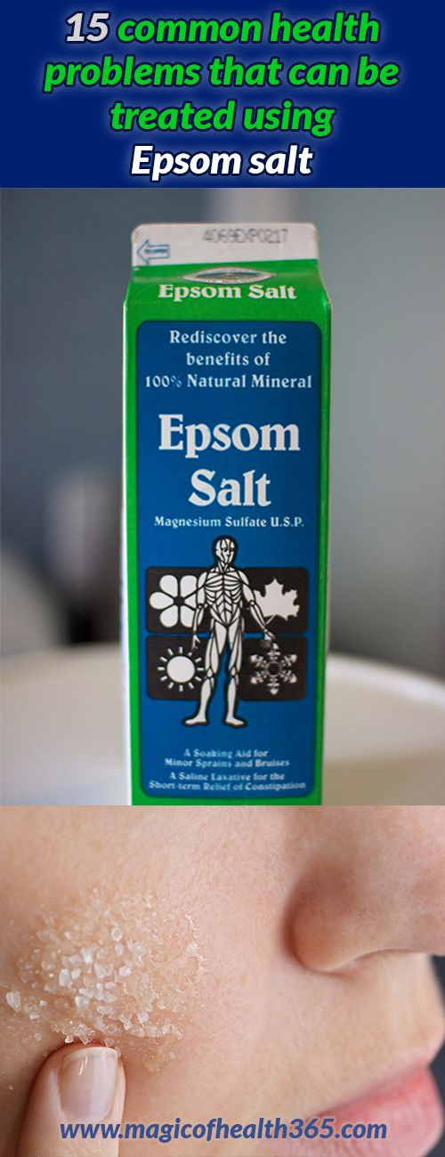 15 Common Health Problems That Can Be Treated Using Epsom
