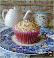 Tea Floured Cupcakes, made by infusing the tea in milk.