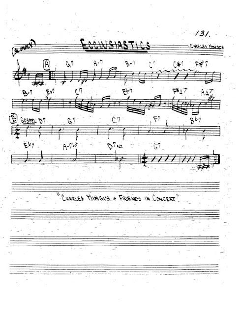 Partitura Trompeta Charles Mingus