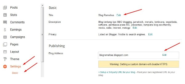 Cara Mengganti Nama dan Alamat Blog