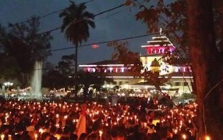 Peserta Aksi Nyalakan Lilin di Bandung Usik Nobar Bobotoh Persib