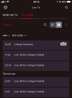 ESPN College Football Schedule September 1st 2018