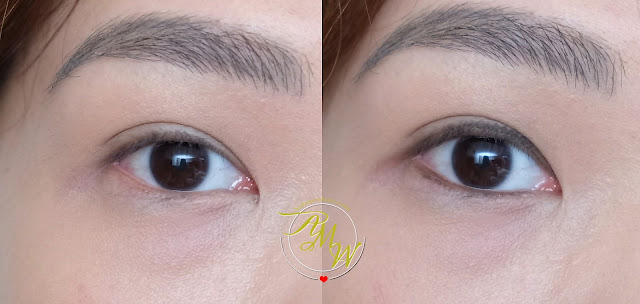a photo of K-palette Real Lasting Eyepencil 24H review in shade Brown Black.