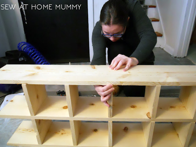 how to make your own fat quarter craft storage cubby shelf ideas || sew at home mummy