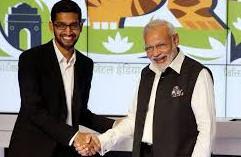 sunder pichai with narendra modi,
