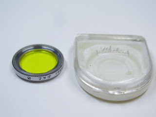 Rare, Vintage Y48 filter, Matsuda, size 19mm with case for konica, Ex
