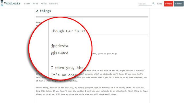 WikiLeaks revela la 'sencilla' contraseña del correo electrónico de Podesta