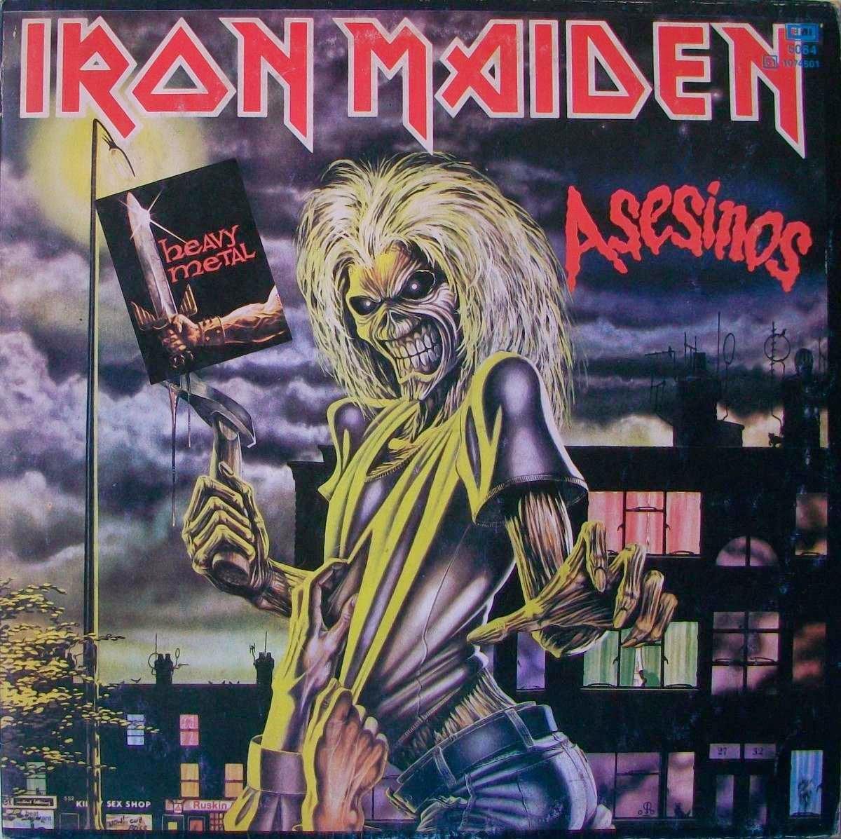 Metal Brutal Argentino Iron Maiden The Little Things She Needs Malmo Black White Tsn0001342c0256 Hitam 38 Asesinos 1981