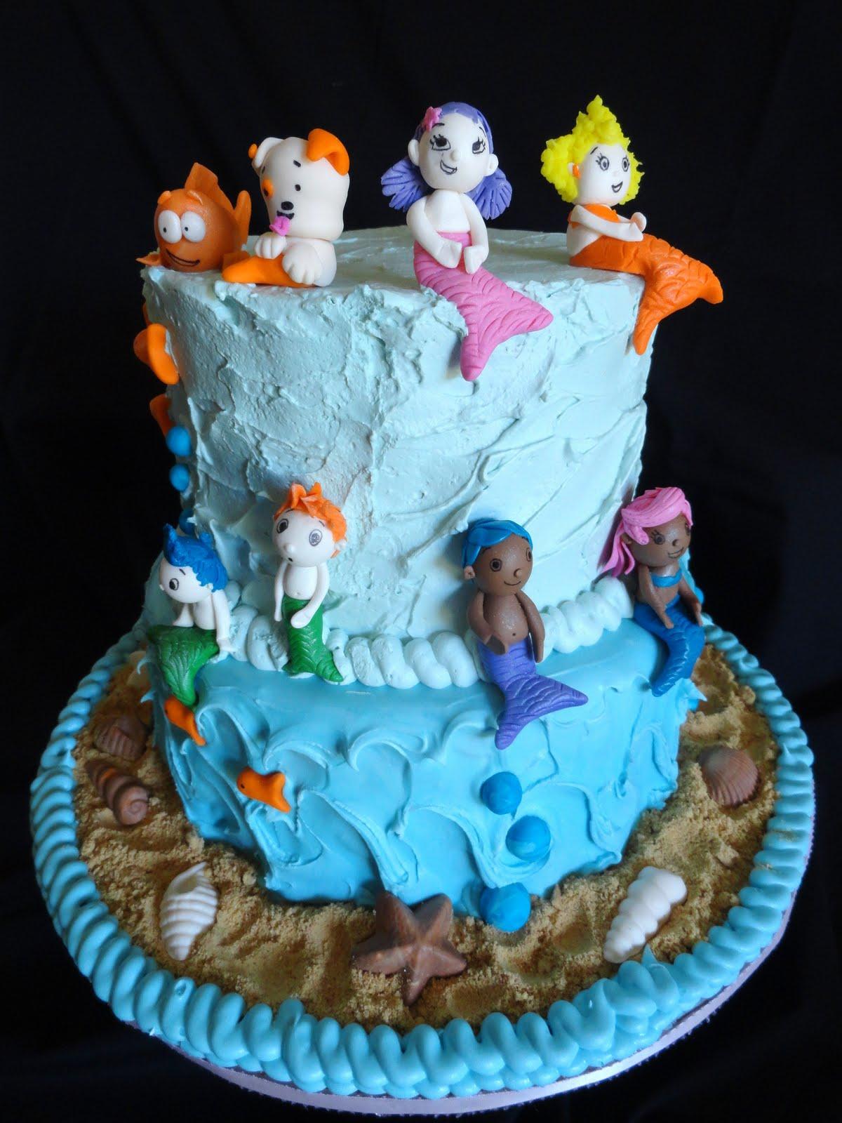 Pink Little Cake Bubble Guppies Cake