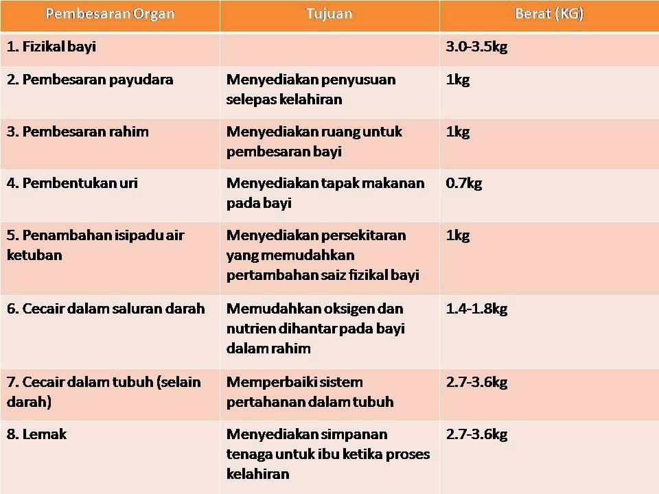 berat badan meningkat ketika hamil