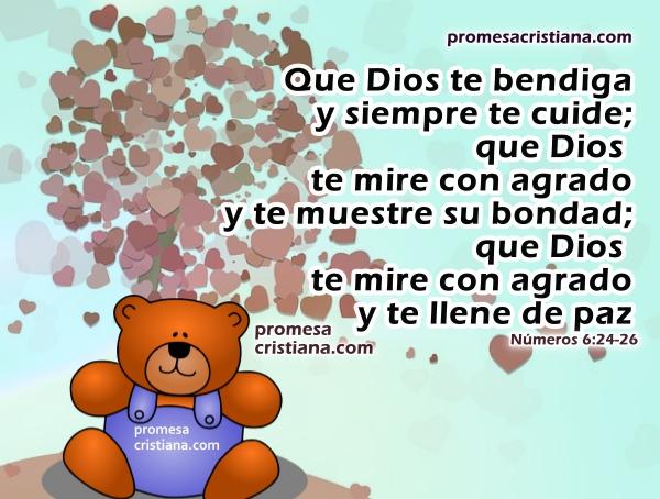 Buenos deseos para ti con promesa cristiana, versículo bíblico de bendición para amigos, hijos, pareja, hermano.  Cita bíblica con imágenes cristianas. Reflexión por Mery Bracho