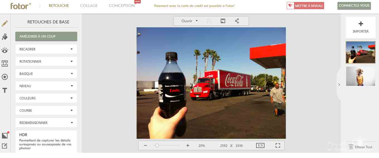 My Travel Background : 3 logiciels pour retoucher rapidement ses photos en ligne - Fotor