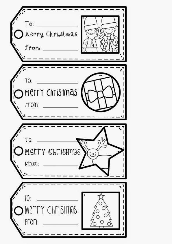 christmas gift tags for my daughter to colour and make today she has finished school for the year and you can make some too just click on the image