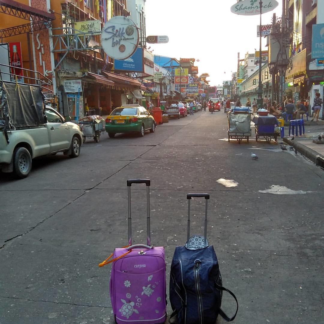 Khaosan Road Bangkok Tailândia mala