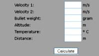 Cálculo de Coeficiente Balístico
