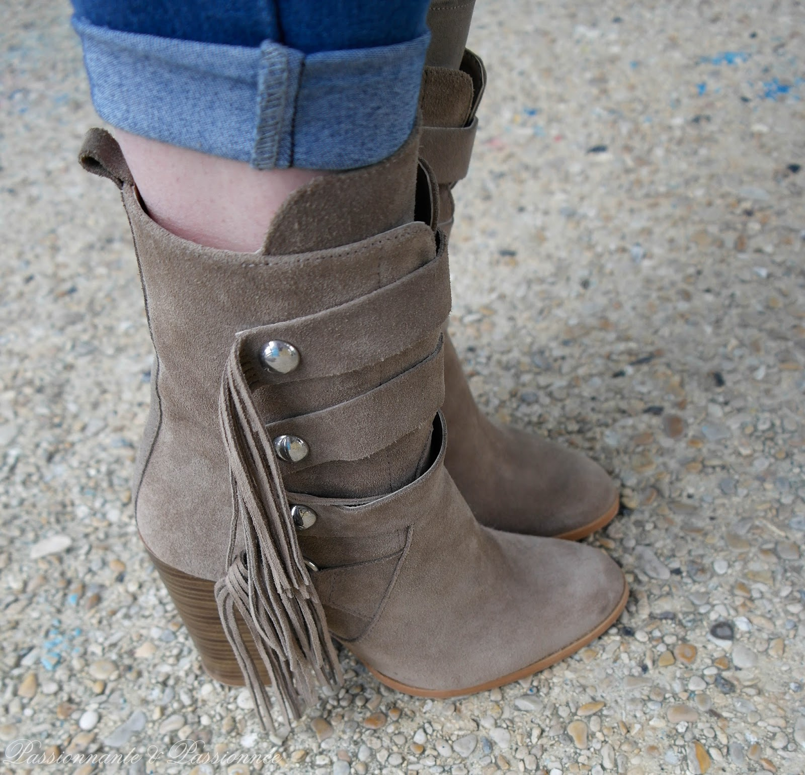bottines zara en daim