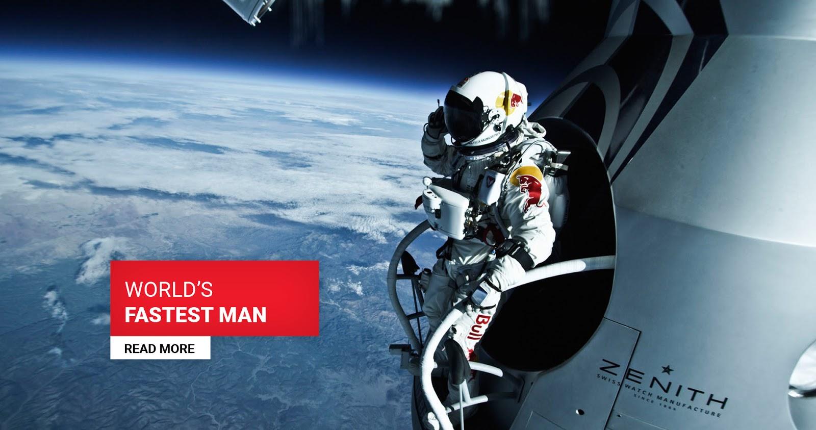 Felix Baumgartner na estratosfera