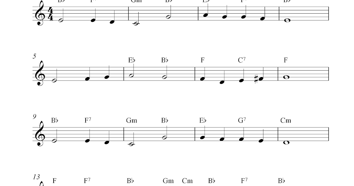 Free Trumpet Sheet Music Notes Abide With Me