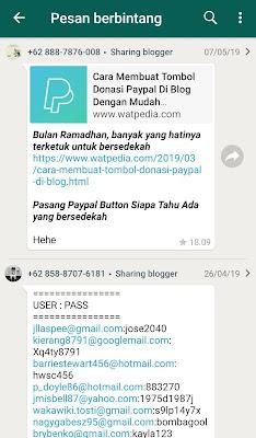 cara melihat pesan whatsapp berbintang
