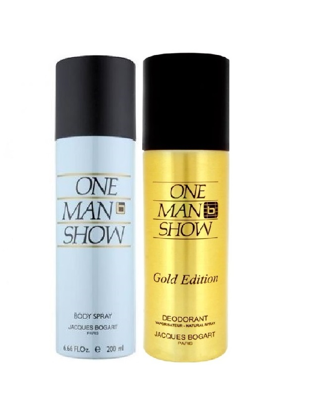 Pack Of 2 - One Man Show Gold Edition And Jacques Bogart Body Spray 20 ml