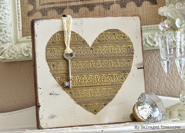 rustic heart tutorial key to my heart