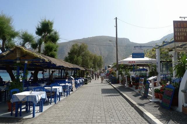 Passeio pelo calçadão, Santorini