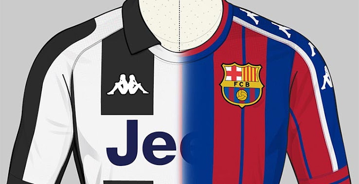 quality design 608f7 7ad6e Barcelona and Juventus Kappa Concept Kits - Footy Headlines