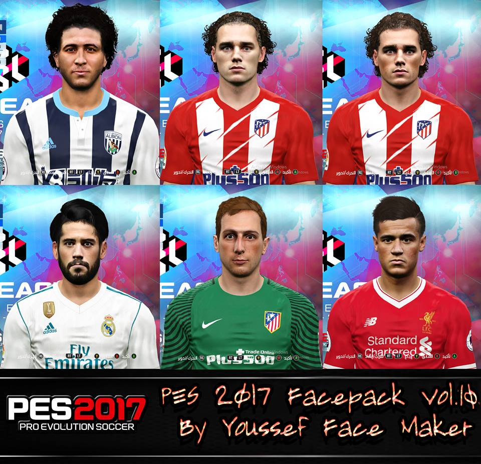 PES 2017 Facepack Vol.10 By Youssef Face Maker