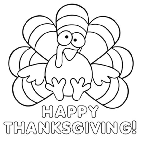 Dibujos Thanksgiving Day Para Colorear