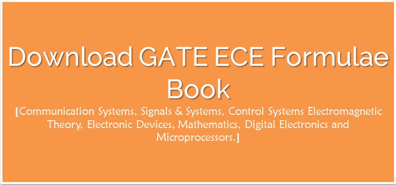 GATE ECE important formulas