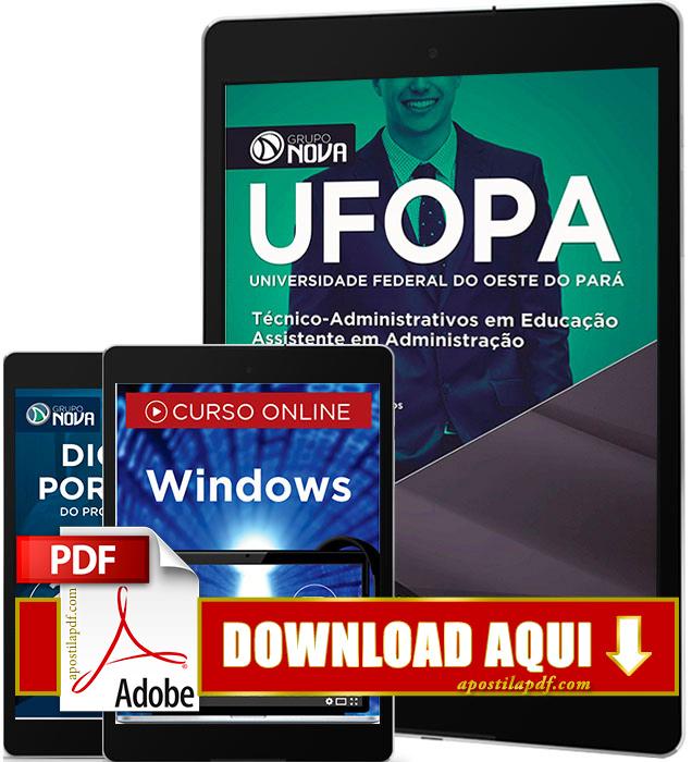 Apostila UFOPA 2016 PDF Download Assistente em Administração PDF