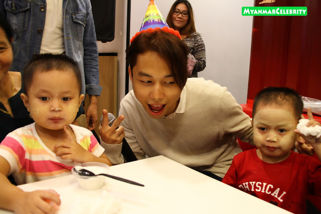 Bunny Phyoe Celebrated 24th Birthday Together with Orphans