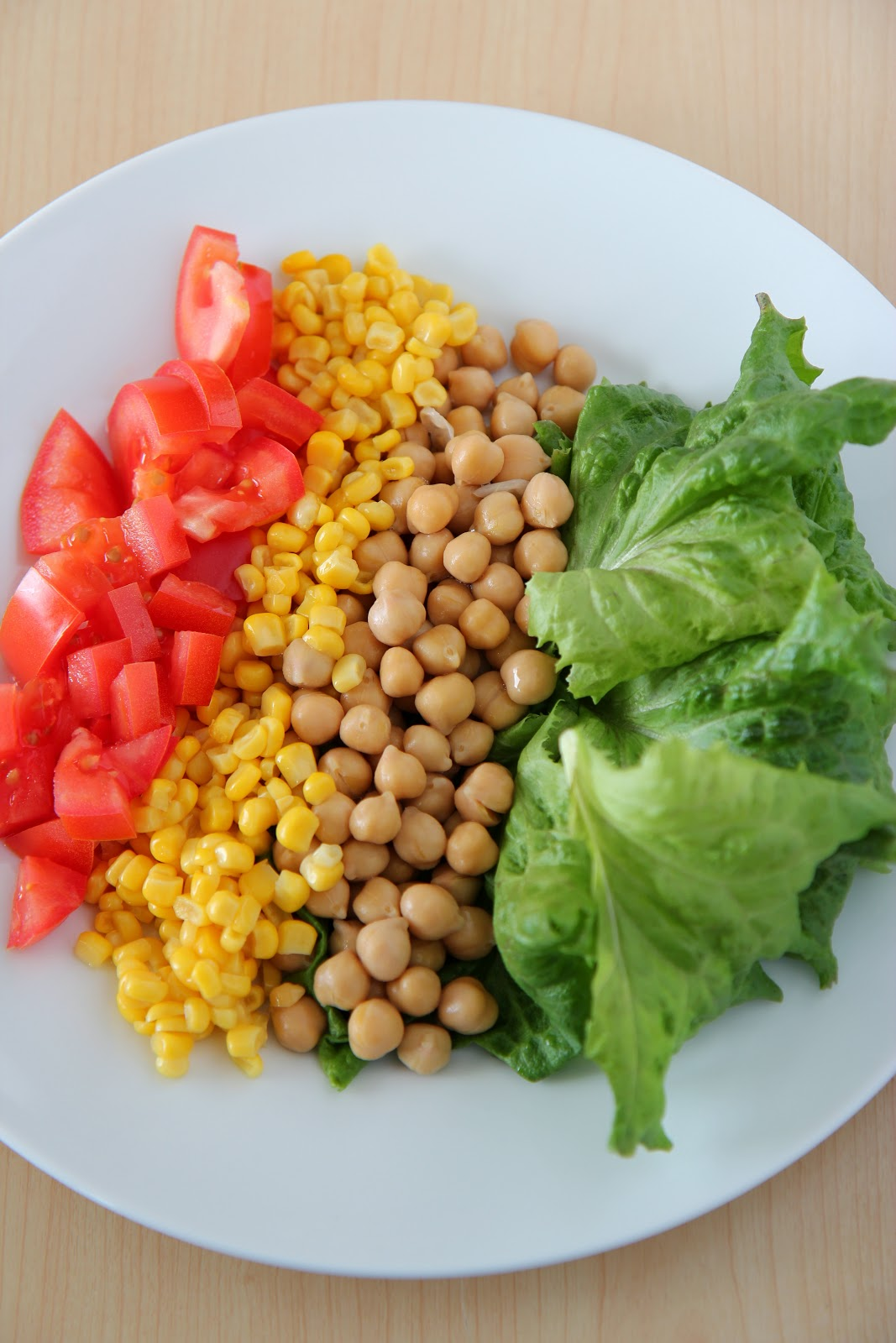 This Crunchy Organic Corn and Chickpea Cobb Salad is a breeze to make -- and delicious, too!