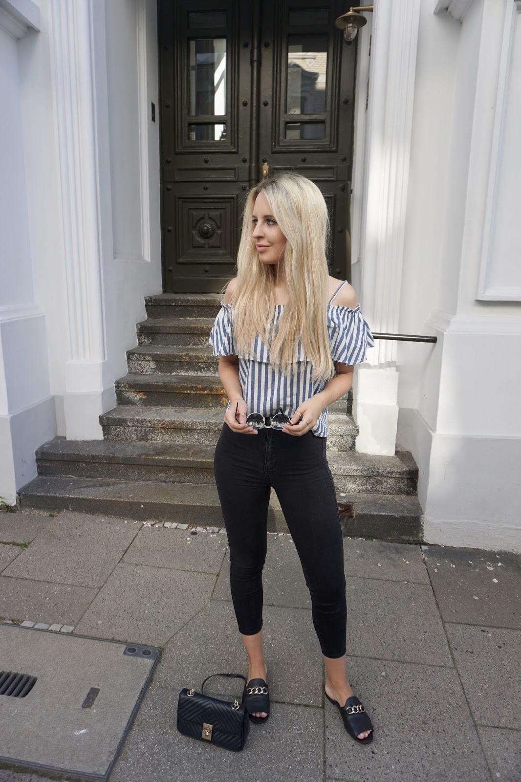 Off Shoulder Bluse Sommer Modeblog Influencer