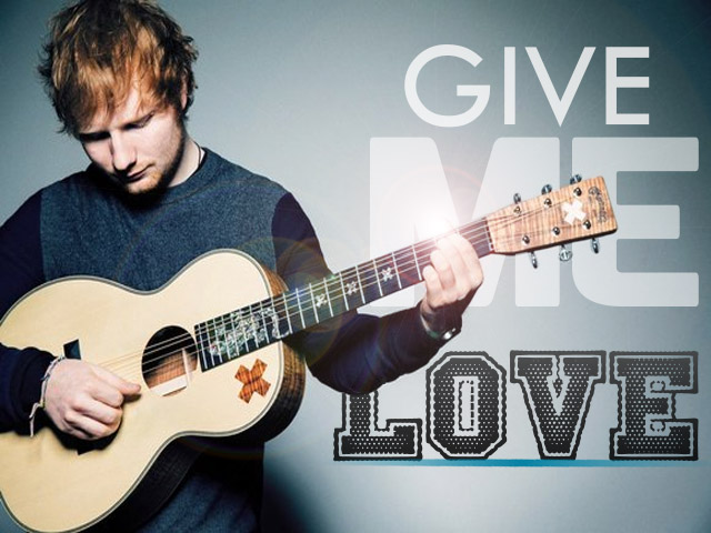 Ed Sheeran Give Me Love with guitar