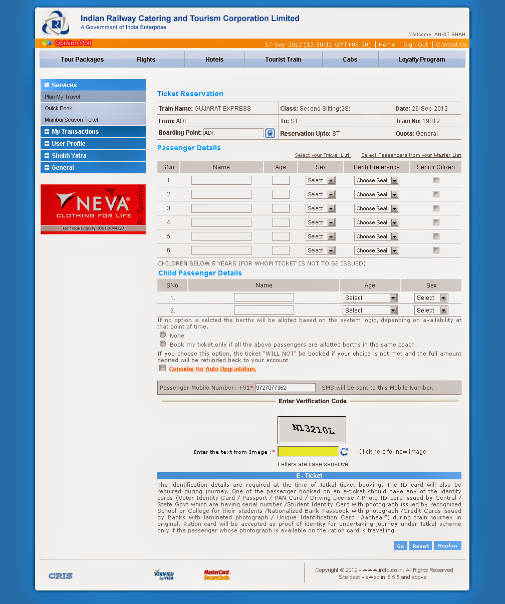 --+IRCTC+--+-+Ticket+Reservation Online Booking Form Html Code on