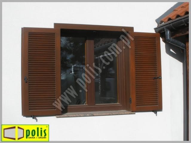 okiennice zewnętrzne drewniane, okiennice Łódź, producent okiennic, okiennice z drewna,