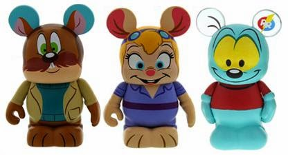 Chip 'n Dale Rescue Rangers Disney Afternoon Vinylmation 3 Pack – Monterey Jack, Gadget Hackwrench & Zipper