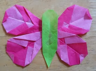 Folded Paper Butterflies Tutorial