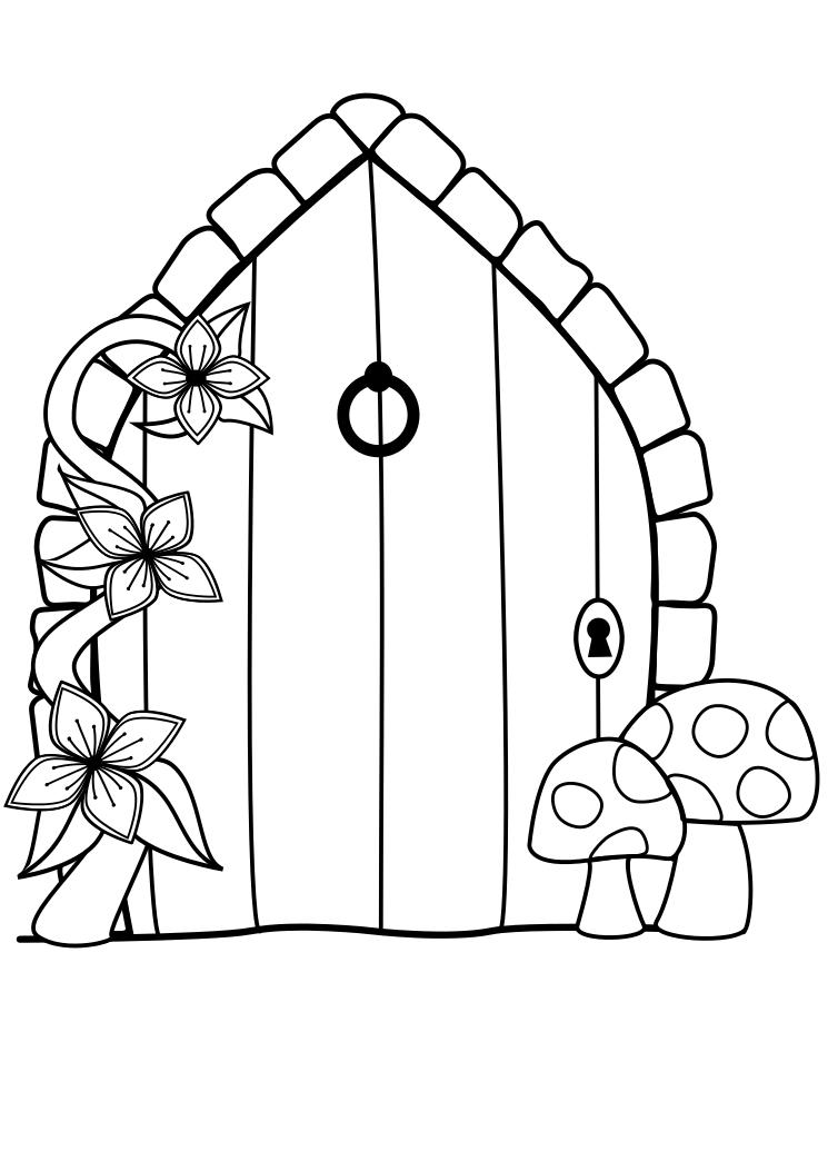 Em 39 s craft corner fairy door free digi image for White fairy door