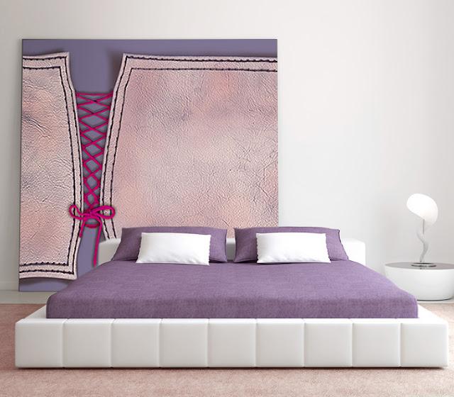 tete de lit originale décor mural moderne