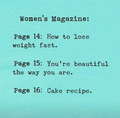 Women's Magazine: Page 14: How to lose weight fast.