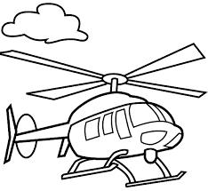 Gambar Mewarnai Aneka Jenis Pesawat Helicopter Gambar Mewarnai