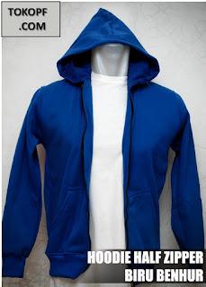 Jaket Polos Warna Biru Muda