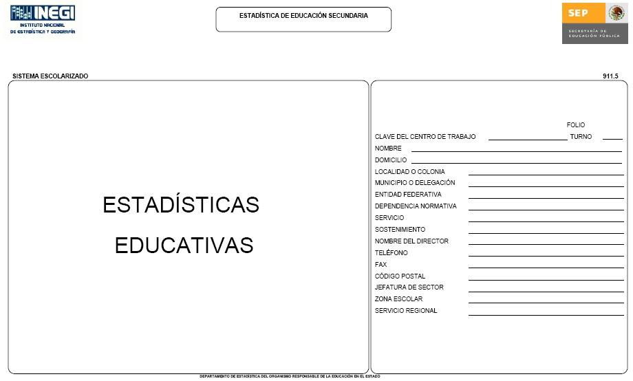 FORMATOS DE ESTADÍSTICA 9114 ZONA ESCOLAR 114