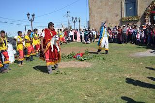 Grupo de danzantes de Naupan, Puebla.