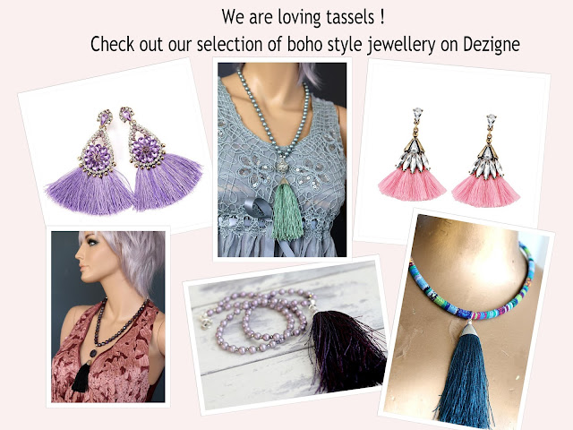Tassel necklaces and tassel earrings
