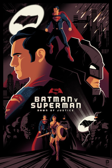 Batman v Superman: Dawn of Justice Standard Edition Screen Print by Tom Whalen x Dark Hall Mansion