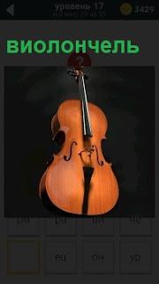 На картинке изображение виолончели, на которой играют свои произведения музыканты